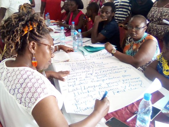 Participants during the GBV training workshop