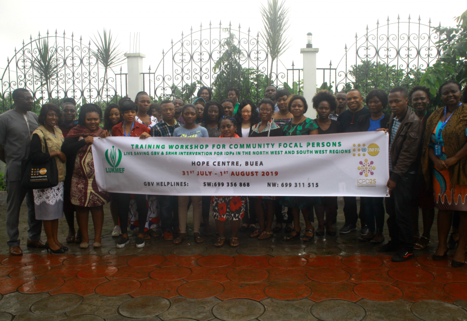 Participants in a group photo after the GBV Training